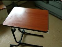 Small portable adjustable table