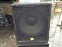 Bass bins jbl jrx 18s