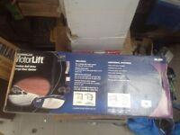 Premium belt driven garage over door closer and closing mechanical arm