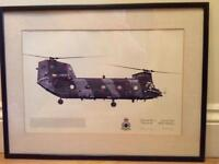 Framed print of RAF Chinook HC.1 -7 Squadron