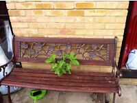 Garden table and bench for sale