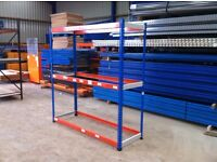 3 TIER INDUSTRIAL WAREHOUSE GARAGE SHED SINGLE BAY RAPID RACKING SHELVING UNIT