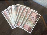 George Best commemorative banknotes UNC (30 consecutive no's) RARE