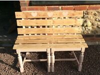 Shabby chic bench, indoor or outdoor, upcycled. Farrow&Ball paint . Really pretty piece. Only 1 made