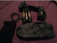Camcorder, tripod, and USB cord for sale