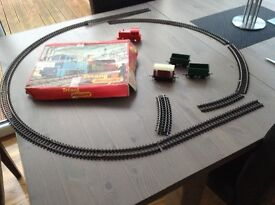 Triang clockwork train set . Needs a new key