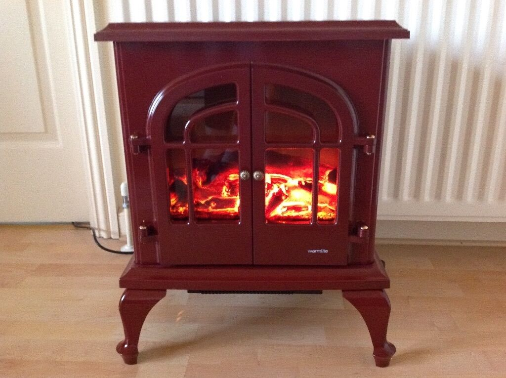 Warmlite Log Effect Electric Stove Fire Brand New In Box