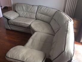 Grey and Black SCS Corner Sofa