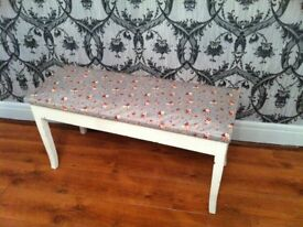 bench shabby chic bench -hall bench - bedroom chair - desk chair -seat