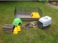 Indoor rabbit cage, carrier and accessories - everything you need!