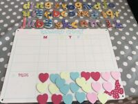 Magnetic reward charts and additional letters - see 2 photos