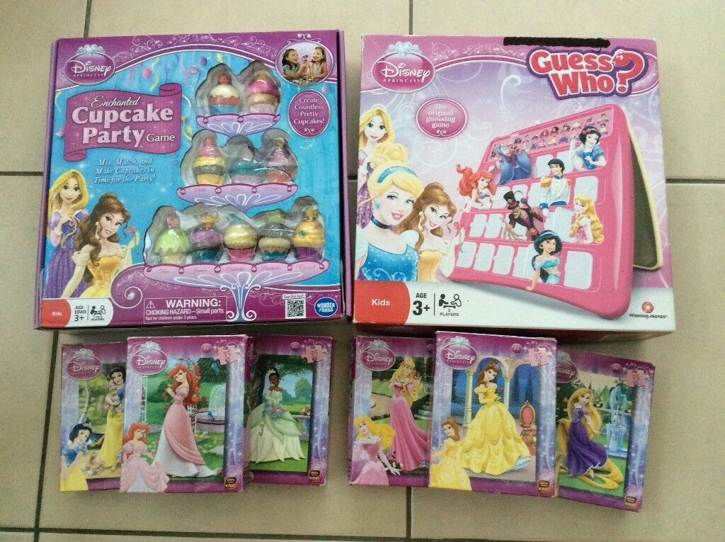 5ba41ddf25d Disney Princess games and jigsaw puzzle bundle