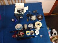 Selection off fishing reels and line