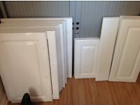 B &Q gloss white kitchen unit doors