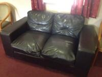 2 & 3 Seater leatherette sofas FREE to collect