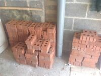 150 Red facing bricks