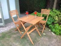 2 seater wooden bistro set