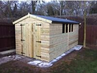 16x8 quality t&g workshop/shed 19mm