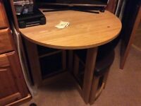 Breakfast/occasional table and 4 stools. Unusual and very useful furniture in pristine condition.