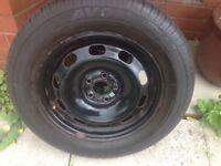 Avon tyre on steel wheel suit Golf or Prius