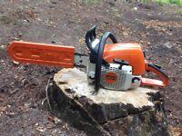 STIHL MS290, used. 18 inch blade, petrol chainsaw, runs well