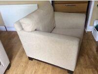 John Lewis oatmeal armchair