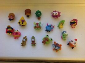 Moshi Monster bumper set. Over 170 characters including Rae, ultra rare, Christmas and gold editions