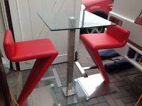 Small table and chairs red good condition hardly used nearly £400 when new ring bill on 07787767009