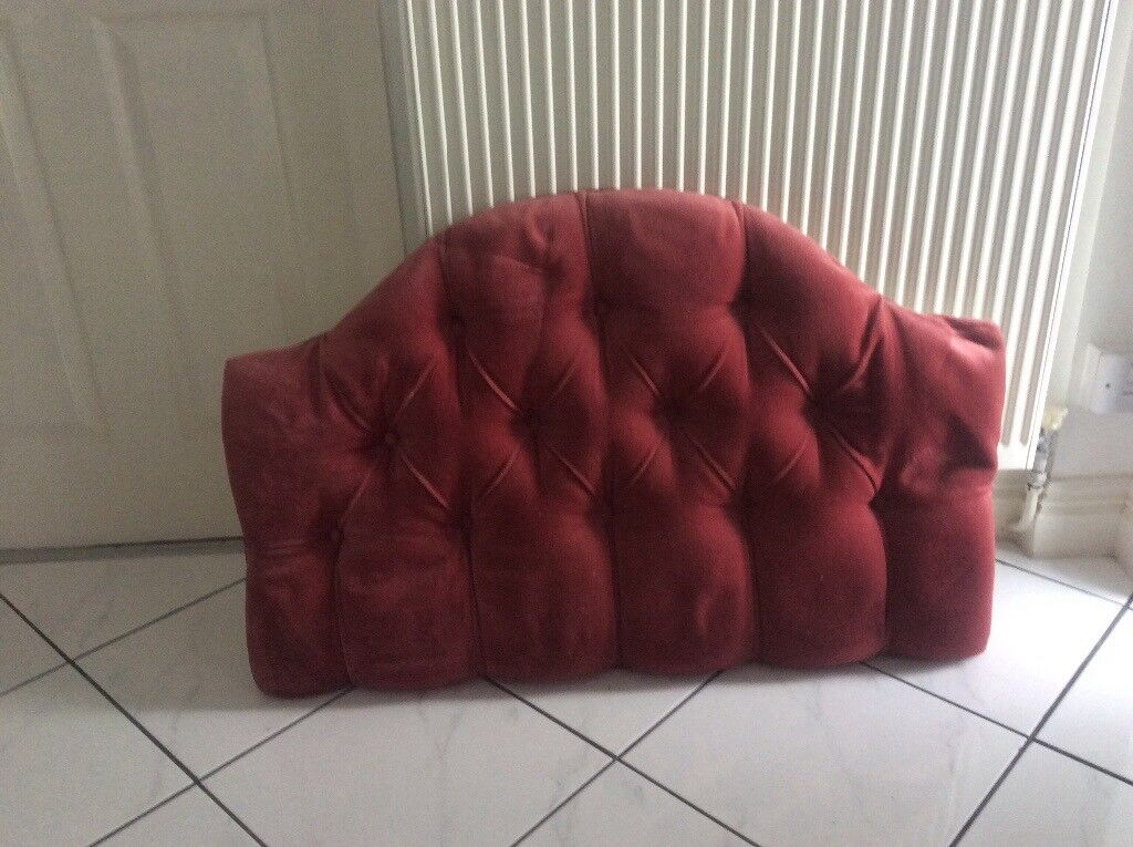 Pink/red headboard, for a standard 3 foot single bed