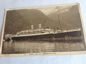 Vintage used j Postcard of SS Orford of the Orient Line.