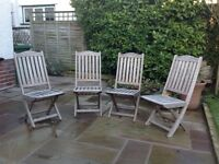Hardwood garden chairs