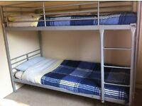 Single bunk bed with matresses