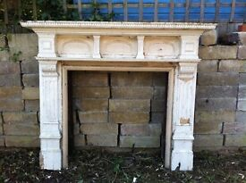 Beautiful Reclaimed Wooden Edwardian / Victorian Fire Surround ONO