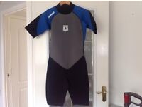 No fear wetsuit size M blue/black