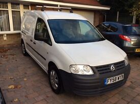 VW Caddy Maxi 5 door 1.9tdi Camper, fitted storage with insulated cargo area with LED lights