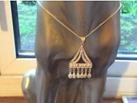 Silver pendant with chain