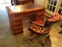 Vintage looking captains chair and desk