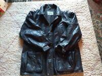 Mans leather coat