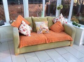 Lime Green 3 seat sofa