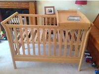 Mamas and Papas solid wood Aiken cot / day bed/ junior bed