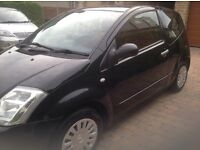 Black Citroen c2 excellent condition inside and out
