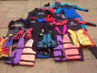 Wet Suits and Life Jackets