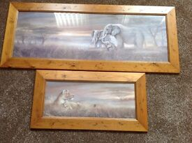 Two animal pictures £15 for both smoke free home
