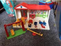 Playmobil school carry case set