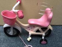 Baby Born pull along bike.