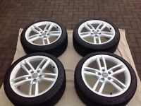 Audi alloy wheels A4 A5 A6 VWT4 VWT5 excellent tyres