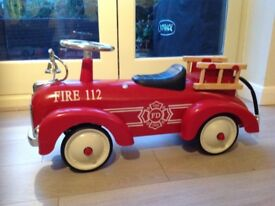 Retro speedster ride on fire engine suitable for 1yr plus.