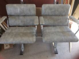 Chairs. Upholstered link chairs.