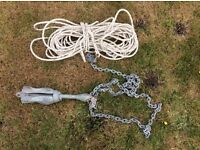 Anchor 3.2kg with chain and leadline