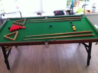 Pool/Snooker table.
